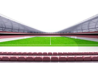 football stadium horizontal view with white background