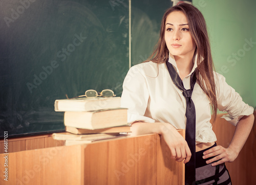 Very young teacher naked