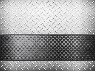 diamond metal background and grid