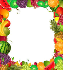 frame template of fruit for you design