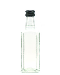 a glass bottle filled with liquid