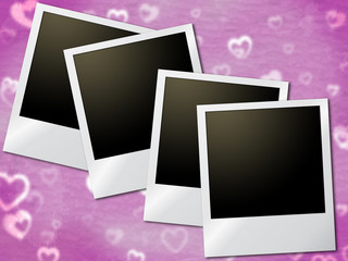 Photo Frames Shows Text Space And Copyspace