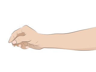isolated man hand drawing vector