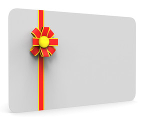 Gift Card Represents Blank Space And Copy
