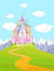 Canvas Prints Fairytale World Fairy Tale Castle Landscape