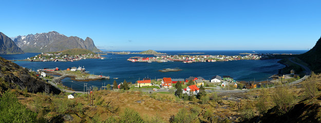 Wall Mural - Panorama view of village Reine, Norway