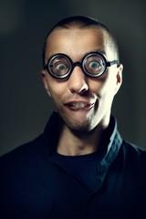 Nerd guy in glasses