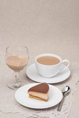 Chocolate And Toffee Cheese Cake. Irish Cream Or Coffee Liquor.