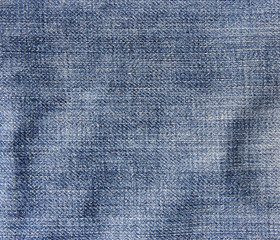 Jeans crumpled texture.