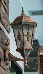 Classic lantern on the wall