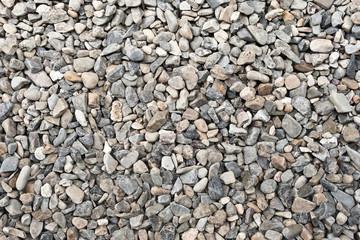 Grober grauer Kies - Kieselsteine