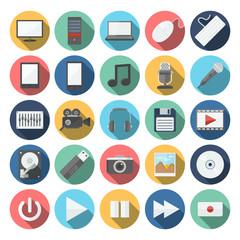 computer & multimedia icons set