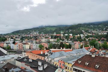 Townscape of Innsbruck, Austria.