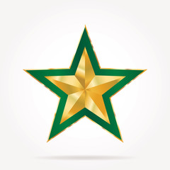 green golden star
