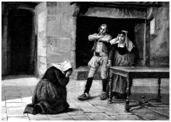 Peasants : Poor Servant & Boss - 19th century