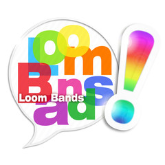 bulle mosaïque lettres : loom bands