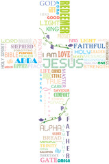 Name of God within the Cross shape