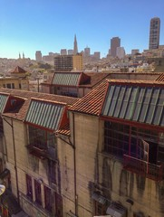 unusual view on san francisco