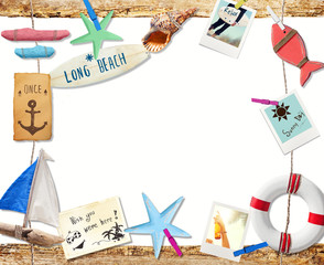 Invitation to the Summer Beach Holiday