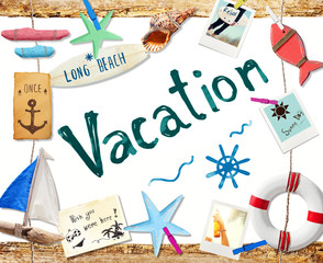 Vacation on the Beach Concept