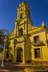 Church in Trinidad, typical view of small town, Cuba