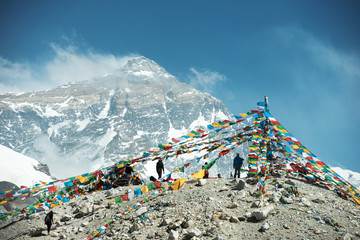 Photo sur cadre textile Népal Spectacular mountain scenery on the Mount Everest Base Camp