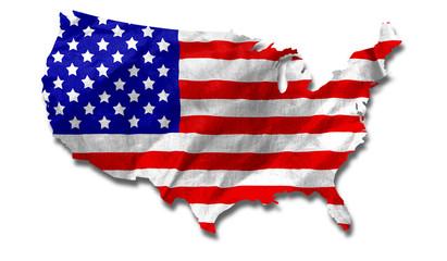 USA Flag Country Outline