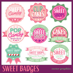 SWEET BADGES WITH WHITE BACKGROUND