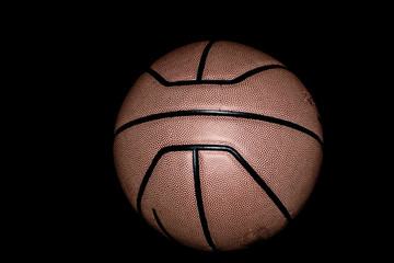 Basketball on black baclground