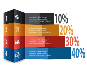 Abstract Infographic Element Modern Style