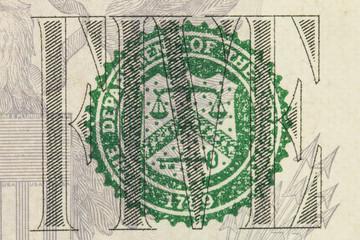 US Dollar Detail- Stock Image macro.