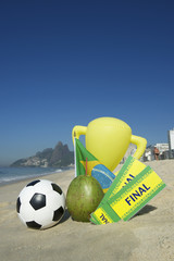 Brazil Soccer Champion Trophy Football Final Tickets Coconut