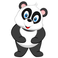 cute baby panda smile