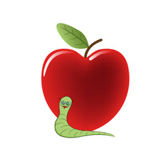 Worm and cherry