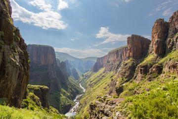 Aluminium Prints Africa Maletsunyane River valley