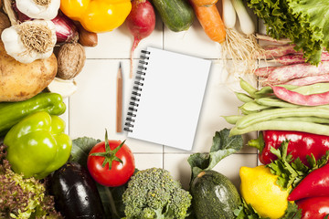 Wall Mural - Colorful healthy fresh vegetables
