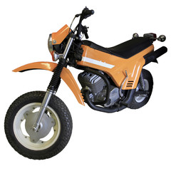 old orange mototrial bike