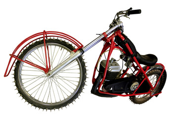vintage red sport bike