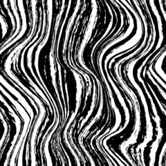 Zebra wavy seamless pattern