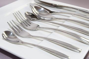 cutlery spoon fork knife silver