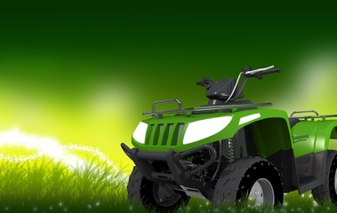 ATV on Grass Copy Space
