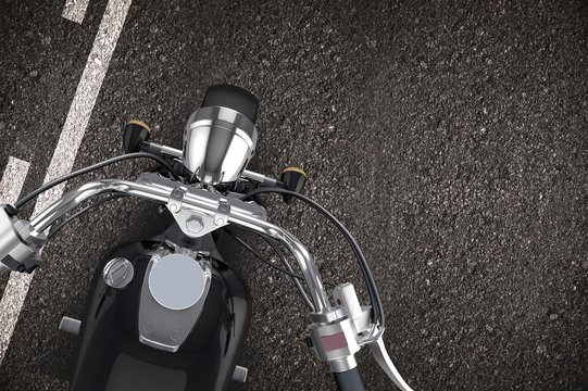 Motorcycle on the Road