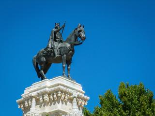 Monument Ferdinand III Plaza Nueva Sevilla