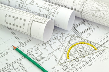 Image of several drawings for the project engineer jobs