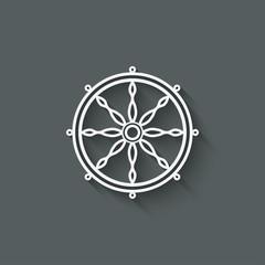 dharma wheel design element