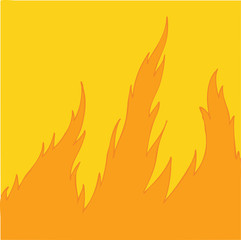 fire (spurts of flame) vector Illustration, hand drawing
