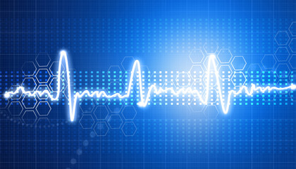 Electrocardiogram, ecg background ..