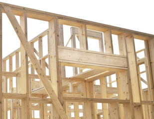 New construction of house, framework.