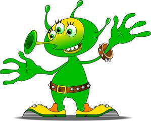 cheerful alien