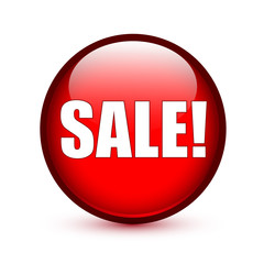 SALE on red button
